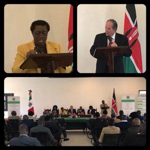 Ceremonia de entrega de un molino de nixtamalización a la Universidad Jomo Kenyatta de Agricultura y Tecnología.