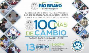 Los primeros 100 días del Gobierno de Río Bravo.