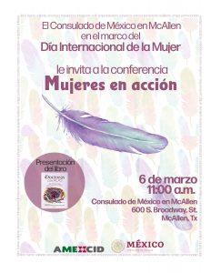 """El Consulado de México en McAllen presentará Conferencia """"Mujeres en acción"""""""