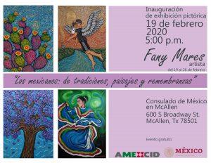 """Inauguración de la exhibición pictórica, """"Los mexicanos: de tradiciones, paisajes y remembranzas"""""""